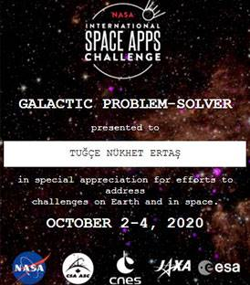 NASA SPACE APPS CHALLENGE FİNALİST